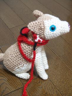 犬の編みぐるみ